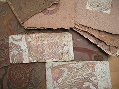 gravures de fossiles sur fossiles