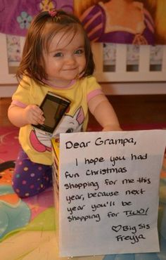 cute pregnancy announcement my dad would love this!! Lol 12-25-13 <3 My little one is due very soon! <3 exciting!'