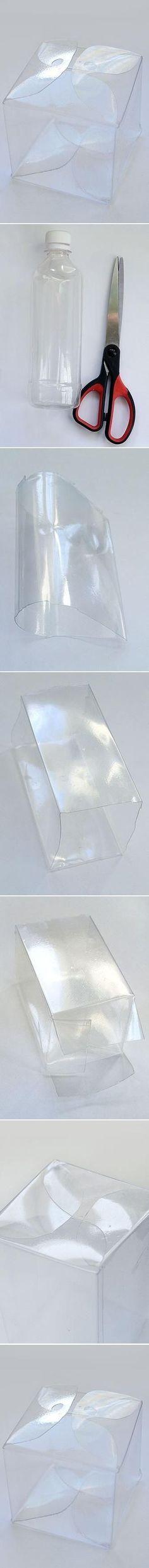 Plastikowe pudełeczko zrobione z butelki - zrób to sam