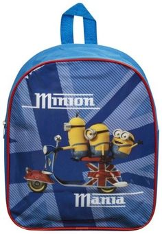 Cool school bag for Minions fans Large zip-lock storage compartment Adjustable padded shoulder straps Glossy PVC front with cute graphics Approx Bag size (cm): x x Cool School Bags, Junior Backpacks, Minions Fans, Spiderman, Batman, Mickey Mouse, Lunch Box, Ebay, Spider Man