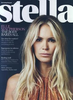 Elle Macpherson in ELIE SAAB Spring Summer 2012 shot by Billie Scheepers and styled by Bryony Gordon for the July issue of Stella.