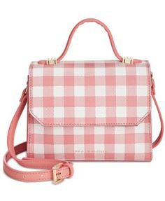 TOMMY HILFIGER Tommy Hilfiger Gingham Mini Top Handle Crossbody. #tommyhilfiger #bags #shoulder bags #hand bags #leather #crossbody #