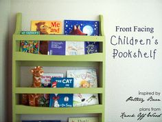 Running With Scissors: Face Front Bookshelf Ikea Dining Room, Diy Wood Stain, Childrens Book Shelves, Bookshelves Kids, Baby Bookshelf, Small Space Storage, Kids Furniture, Painted Furniture, Boy Room
