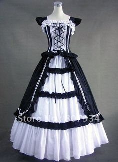 Halloween costumes for women adult southern belle costume Victorian dress Ball Gown Gothic lolita dress plus size custom Gothic Victorian Dresses, Victorian Ball Gowns, Gothic Lolita Dress, Goth Dress, Victorian Costume, Victorian Fashion, Vintage Gothic, Victorian Halloween, Vintage Black