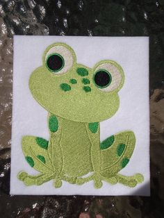 Frog 2 Embroidery Design for Machine Embroidery 5x7 by ARTHURjane, $5.99