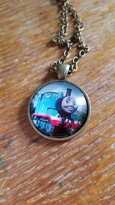 Thomas The Tank Necklace by AwesomeOddities on Etsy