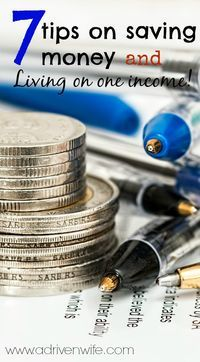 7 tips on saving money and living on one income!