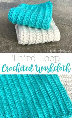 Working crochet stitches in the third loop creates a cool raised texture on these crocheted washcloths. Free pattern available. Informations About Third Loop Crocheted Washcloth Pin You can easily use Crochet Gratis, Free Crochet, Knit Crochet, Knitting Patterns, Crochet Patterns, Free Knitting, Crochet Ideas, Knit Dishcloth, Crochet Kitchen