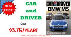 HOT BUY! Grab Car and Driver Magazine for only $3.75/Year when you subscribe for 4 years! You won't find a better deal! Great gift too- Father's Day will be here soon!  Click the link below to get all of the details ► http://www.thecouponingcouple.com/car-and-driver-magazine/ #Coupons #Couponing #CouponCommunity  Visit us at http://www.thecouponingcouple.com for more great posts!