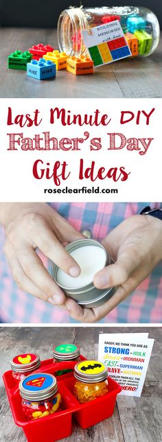 Last Minute DIY Father's Day Gift Ideas   http://www.roseclearfield.com