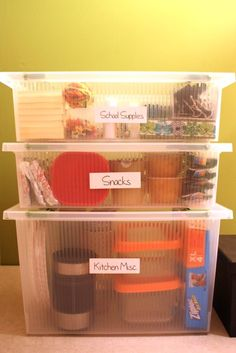 this would work well, maybe on top of a mini fridge, but replace the school supplies with... silverware or something.
