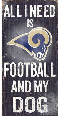 Fan Creations Wood Sign Los Angeles Rams Football and My Dog, Multicolored NEW Bills Football, Nfl Football, Nfl Sports, Sports Fan Shop, St Louis Rams, New England Patriots Football, Center Signs, Nfl Gear, La Rams