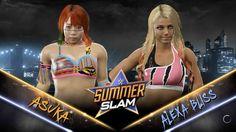 Alexa Bliss vs. Asuka WWE 2K17 Match (Video)