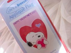 Peanuts Flag Snoopy Happy Valentine's Day NEW with Heart 28 x 40 inches 2004