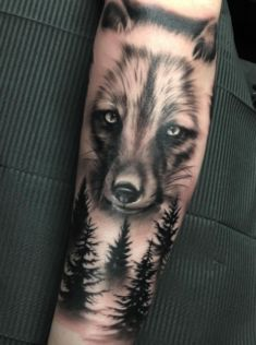 Fox and Forest Tattoo
