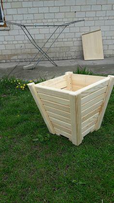 Outdoor Planter Boxes, Wooden Garden Planters, Diy Planter Box, Diy Planters, Woodworking Items That Sell, Woodworking Projects Diy, Youtube Woodworking, Simple Furniture, Diy Pallet Furniture