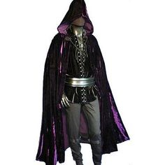 male witch costume outfits cloak warlock witches outfit halloween costumes wizard fantasy ball hooded clothing character wiccan witchcraft medieval clothes