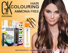 GK Hair colouring hair Global Keratin Juvexin