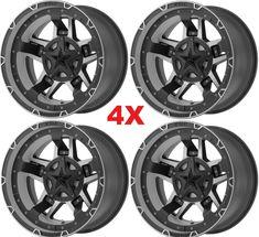 Black Wheels Rims Rockstar 3 Jeep Wranglers 5 Lug for sale online 20 Wheels, Black Wheels, Fuel Rims, Ford F150 Fx4, Gmc 2500, Truck Rims, Alloy Wheel, Black Rings, Jeep Wranglers
