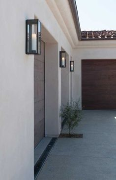 UECo   Inspired   Curated   Exterior Garage Doors Are Beautiful: Modern  Exterior LightingExterior ...