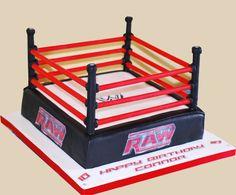 Wrestling Birthday Cake cakepins.com