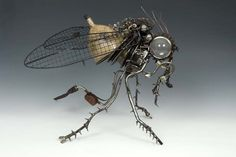 """""""Car Parts Sculptures"""" by James Corbett,Fly"""