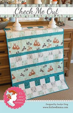 Check Me Out Quilt Pattern It's Sew Emma #ISE-125 - Quilt Patterns | Fat Quarter Shop
