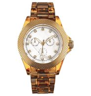 Wild Safari Faux Tortoise Watch from Avon... Looks like a Michael kors but much cheaper