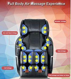 New-Electric-Full-Body-Shiatsu-Massage-Chair-Foot-Roller-Zero-Gravity-w-Heat