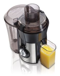 Hamilton Beach Juice Extractor, Big Mouth, Metallic (67608A) -- Click image for more details.