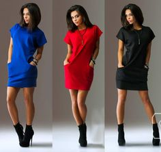 2018 Work Women Fashion Spring OL Dress Brand O-Neck Black Red Female Style  Casual Sexy Dress Vestidos Bodycon e3d18f807e1