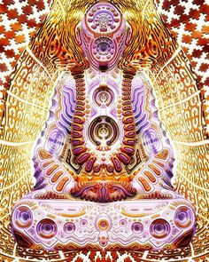 """""""The Answers Lie Within"""" Ben Ridgway #buddha #psychedelic #sculpture"""