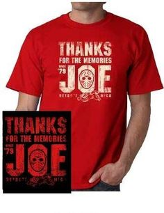 NHL Detroit Red Wings Thanks for the Memories Joe Louis T-Shirt Red Wings Hockey, Joe Louis, Thanks For The Memories, Detroit Red Wings, Nhl, Thankful, Designer Wear, Tees, Sports