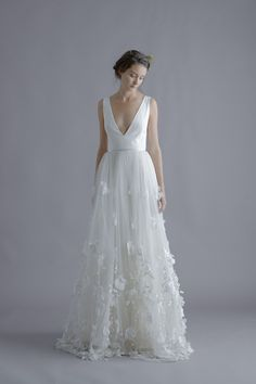 | Alexandra Grecco Wedding Dress: romantic wedding dress with flowing skirt | See more at emmaandgracebridal.com