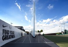 skylab architecture: 'camp victory' for nike's olympic trials pavilion