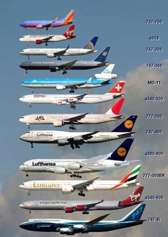 Commercial aircraft.
