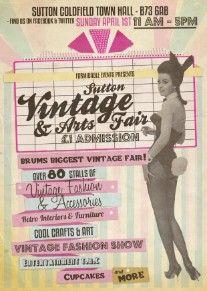 Flyer for Sutton Vintage & Arts Fair