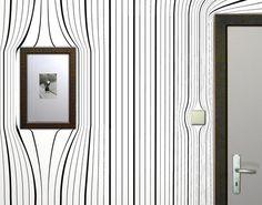 Warp Your Room by Surrealien Warped Wall, Trippy Wallpaper, Interior Decorating, Interior Design, Blog Deco, Designer Wallpaper, Wallpaper Designs, Picture Wall, Decoration