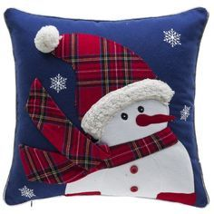 Sewing Pillows Twinkle Snowman Cotton Throw Pillow - Decorate your home this holiday season with the Twinkle Snowman Cotton Throw Pillow. Cute and whimsical, this throw pillow is sure to bring charm to your space. Orange Duvet Covers, Orange Throw Pillows, Sewing Pillows, Diy Pillows, Wash Pillows, Living Room Decor Purple, Christmas Cushions, Christmas Patchwork, Christmas Bedroom