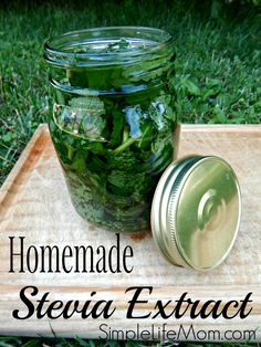 Homemade Stevia Extract - easy step by step instructions on making your own healthy natural sweetener. Stevia does not raise sugar levels like other sweeteners. Great in drinks, even desserts. From Simple Life Mom --------> http://tipsalud.com                                                                                                                                                                                 Más