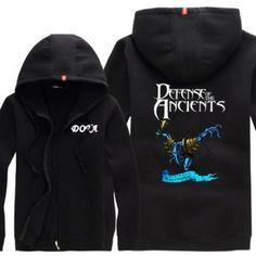 Darkterror XXXXL moletom com capuz para homens manga longa Dota 2 herói fecha acima o hoodie
