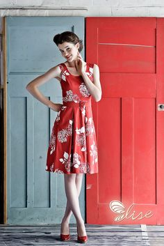 A red, retro dress from one of our favourite designers. It's the shortcut to style!