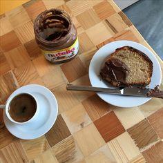 Kahve&kek&nutella. Coffee&cake&nutella 🍫💜☕️