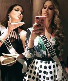 Miss Venezuela Mariam Habach  y Miss Panama, listas para la Jornada del dia que se realiza en en Miss Universe en Filipinas by Antoni Azocar..