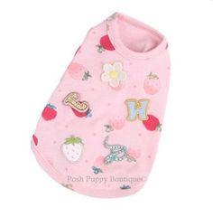 Louis Dog Jam Scones Cotton Shirt- Pink- Shop By Designer - Louis Dog Collection - Clothes Posh Puppy Boutique