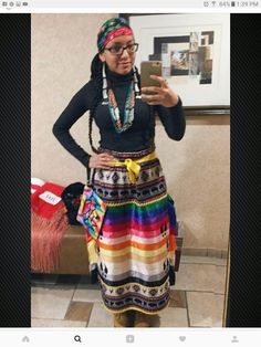 Your doppleganger Native American Women, Native American Fashion, Native Fashion, Pretty Outfits, Beautiful Outfits, Ribbon In The Sky, Traditional Skirts, Applique Skirt, Jingle Dress