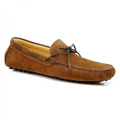 Men's Suede Loafers #aquila #fashion #suede #loafer #rubbersole #summer #laces #Xavier #Tan