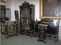 Petit meuble secrétaire Napoléon III en acajou et ...