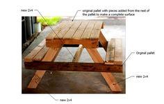 DIY pallet picnic table - free plans