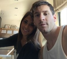 Lionel Messi enjoys a relaxing day with his girlfriend Antonella Roccuzzo as Barcelona star gives fans a glimpse of his new tattoo